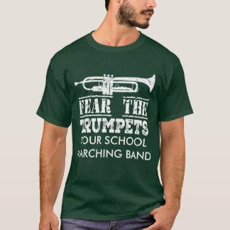 トランペット音楽マーチングバンドの名前入りなワイシャツ Tシャツ