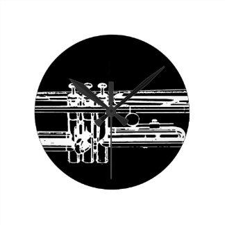 トランペット ラウンド壁時計