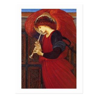 トランペット、Burneジョーンズとの天使 ポストカード