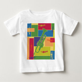 トランペットColorblocks ベビーTシャツ