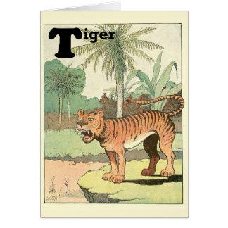 トラ動物のアルファベット カード