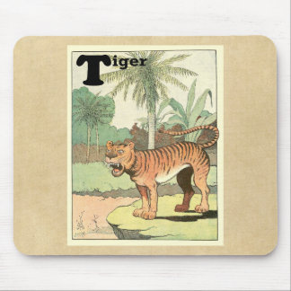 トラ動物のアルファベット マウスパッド