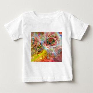 トラ、バラおよびよいメッセージ ベビーTシャツ