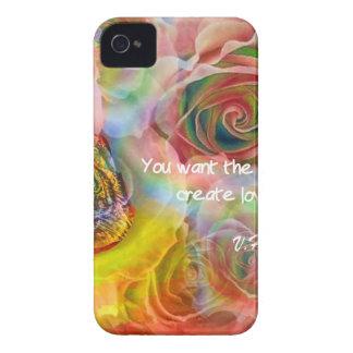 トラ、バラおよびよいメッセージ Case-Mate iPhone 4 ケース