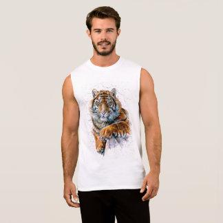 トラ 袖なしシャツ