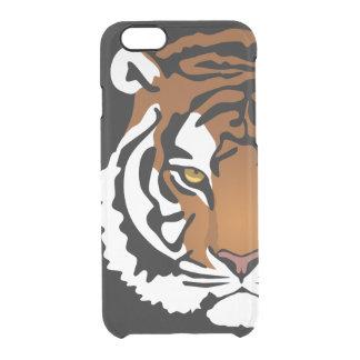 トラ、黒の野生猫 クリアiPhone 6/6Sケース