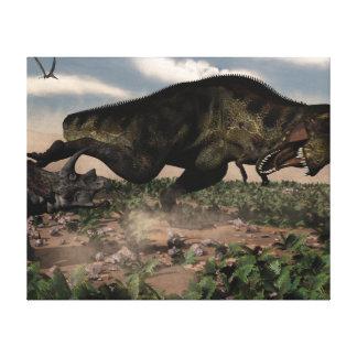 トリケラトプスでとどろくティラノサウルス・レックスのレックス キャンバスプリント