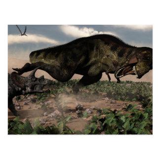 トリケラトプスでとどろくティラノサウルス・レックスのレックス ポストカード