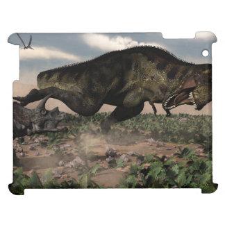 トリケラトプスでとどろくティラノサウルス・レックスのレックス iPad CASE