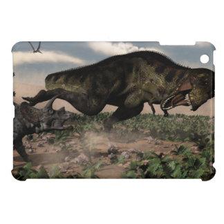 トリケラトプスでとどろくティラノサウルス・レックスのレックス iPad MINIカバー