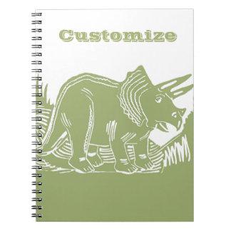 トリケラトプスのカスタマイズ可能なノート ノートブック