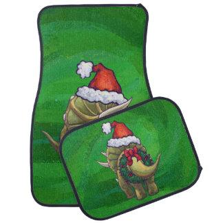 トリケラトプスのクリスマスの緑 カーマット