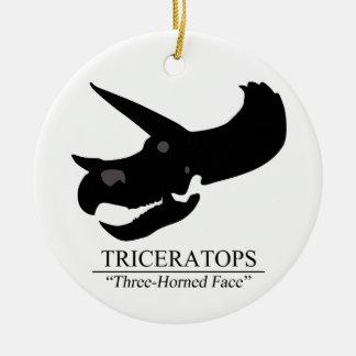 トリケラトプスのスカル セラミックオーナメント
