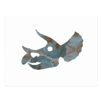 トリケラトプスのスカル ポストカード