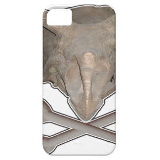 トリケラトプスのスカルnの十字の骨 iPhone SE/5/5s ケース