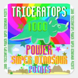 トリケラトプスの力によってすごい恐竜1000ポイント スクエアシール