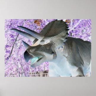 トリケラトプスの恐竜 ポスター