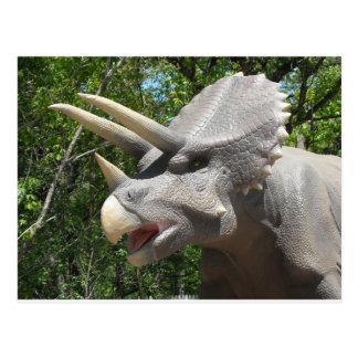 トリケラトプスの恐竜 ポストカード