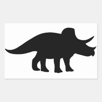 トリケラトプスの恐竜 長方形シール