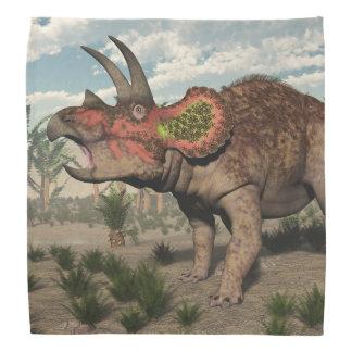 トリケラトプスの恐竜- 3Dは描写します バンダナ