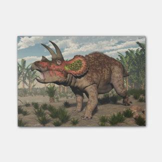 トリケラトプスの恐竜- 3Dは描写します ポストイット