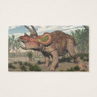 トリケラトプスの恐竜- 3Dは描写します 名刺