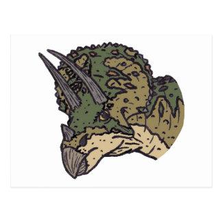 トリケラトプスの頭部 ポストカード