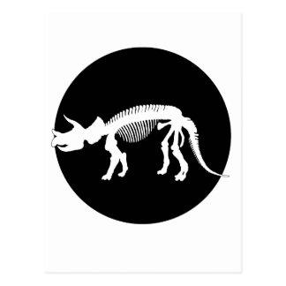 トリケラトプスの骨組 ポストカード