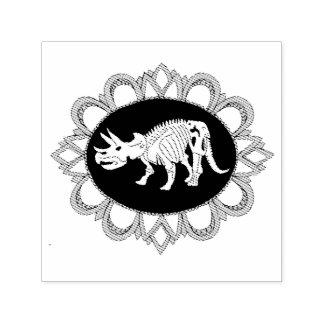 トリケラトプスのFossileのカメオ セルフインキングスタンプ