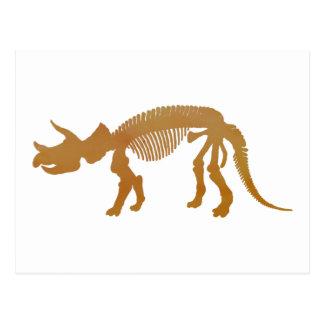 トリケラトプスのprorsusの骨組 ポストカード