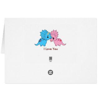 トリケラトプス愛-挨拶状 カード
