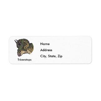トリケラトプス 返信用宛名ラベル