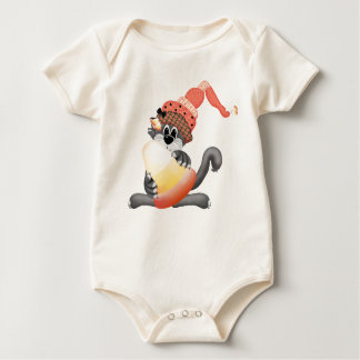 トリックまたは御馳走ハロウィンのベビーのワイシャツ ベビーボディスーツ