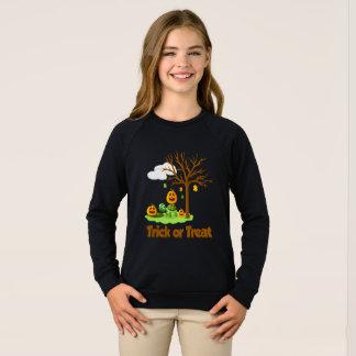 トリック・オア・トリートのカメのカボチャ木の雲の庭 スウェットシャツ