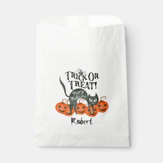 トリック・オア・トリートのハッピーハローウィンのパーティの記念品のバッグ フェイバーバッグ