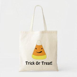 トリック・オア・トリートのハロウィンのバッグ-キャンデートウモロコシの漫画! トートバッグ