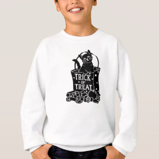 トリック・オア・トリートのバッグのシルエット猫 スウェットシャツ