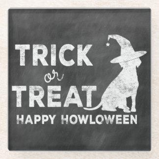 トリック・オア・トリートの幸せなHowloweenの小犬の魔法使いVint ガラスコースター