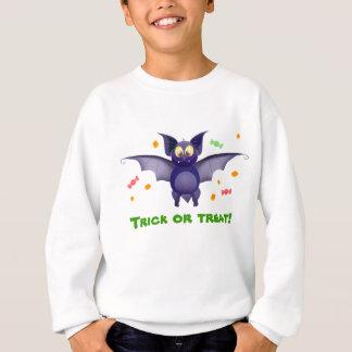 トリック・オア・トリート! ハロウィンのベビーのこうもりキャンデートウモロコシ スウェットシャツ