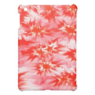 トリップ(幻覚体験)のようななサイケデリックな多彩の赤い白い及びピンク iPad MINIケース