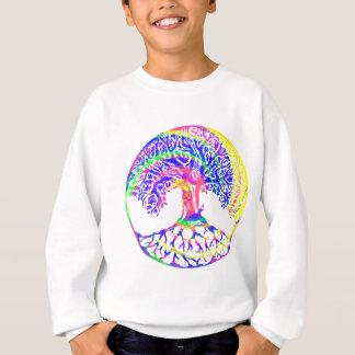 トリップ(幻覚体験)のようなな生命の樹 スウェットシャツ