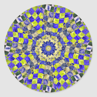 トリップ(幻覚体験)のようなな藻のキルト2013年2月 ラウンドシール