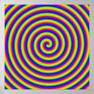 トリップ(幻覚体験)のようなな虹のコイル ポスター