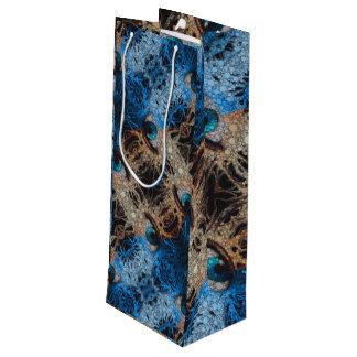 トリップ(幻覚体験)のようなな青い目の抽象芸術 ワインギフトバッグ