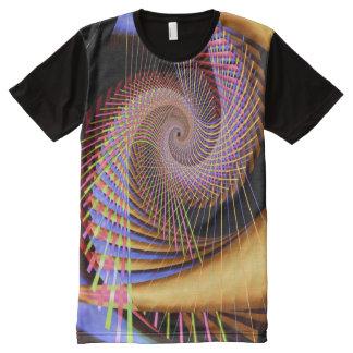 トリップ(幻覚体験)のようなな2サイケデリックな抽象芸術の罰金のフラクタル オールオーバープリントT シャツ