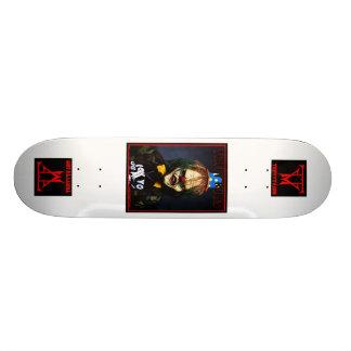 トリップ(幻覚体験)のようなピエロのスケートボード 18.7CM ミニスケートボードデッキ