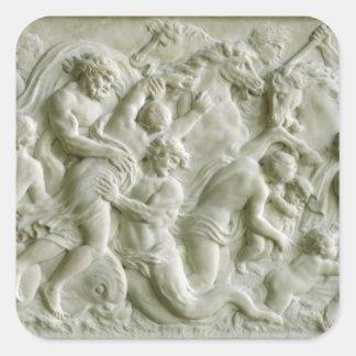 トリトンによって運び去られるnereidsを描写するレリーフ、浮き彫り スクエアシール