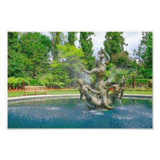 トリトンの噴水の理事の公園、ロンドンのプリント フォトプリント
