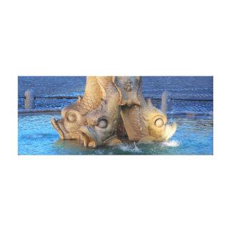 トリトンの噴水-ローマ キャンバスプリント