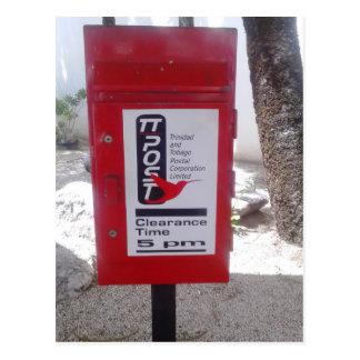 トリニダードトバゴの公共のPostbox (ポスト) ポストカード